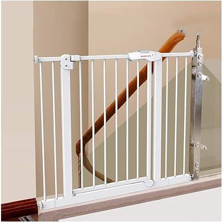 Fácil Columpio & Bloquear Puerta del Bebé Escalera Puerta de Seguridad Ideal para Estándar O Más Amplio Escaleras Se Balancea para Autobloquearse (Size : Width: 125-134cm): Amazon.es: Hogar