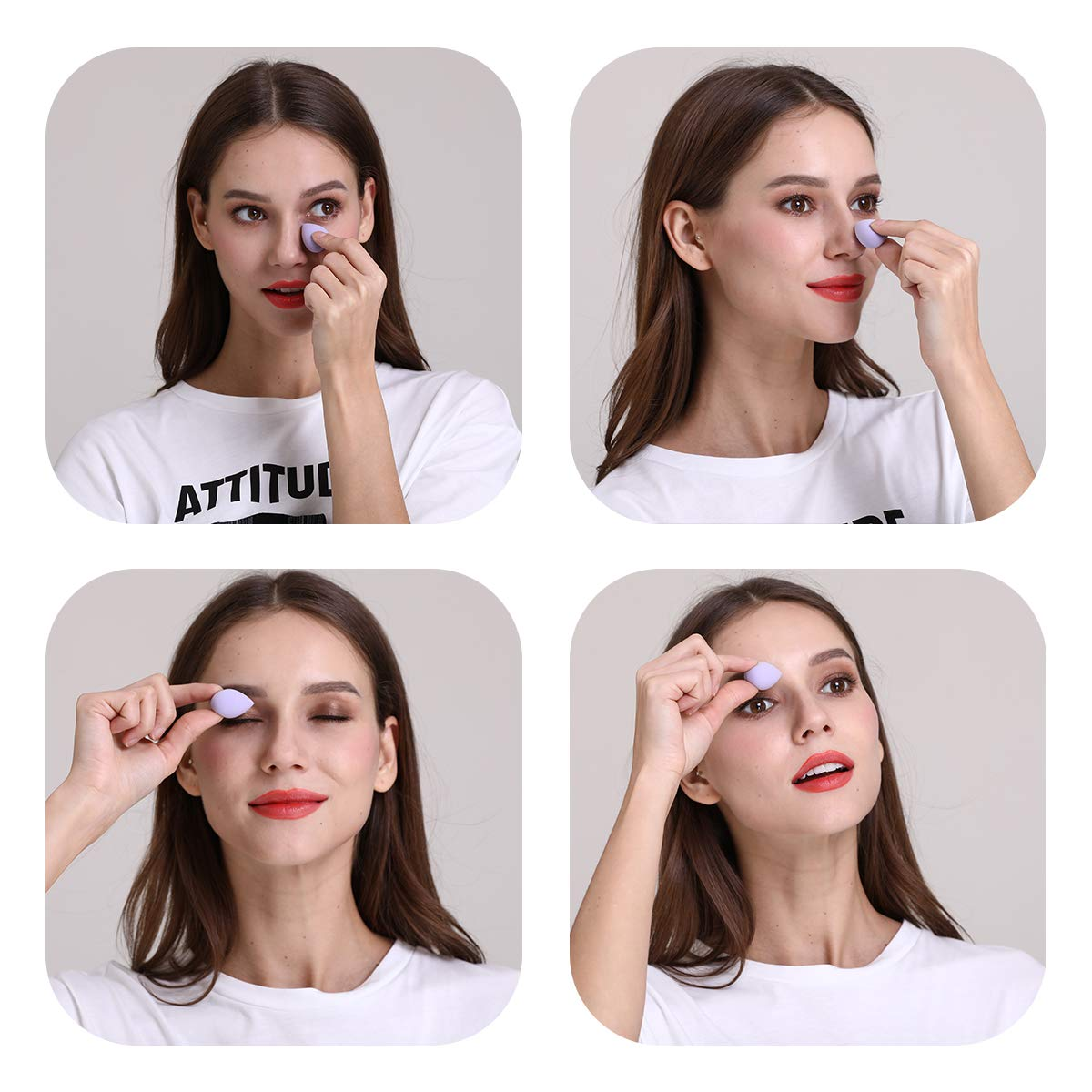Mini Makeup Blenders Blender Pack 6 Pcs, Mini Beauty Sponge Multi-Color for Foundation Powder Concealer Liquid and BB Cream, Apply to Your Concealer and Under Eyes, Highlight and Contour, LATEX Free. : Beauty
