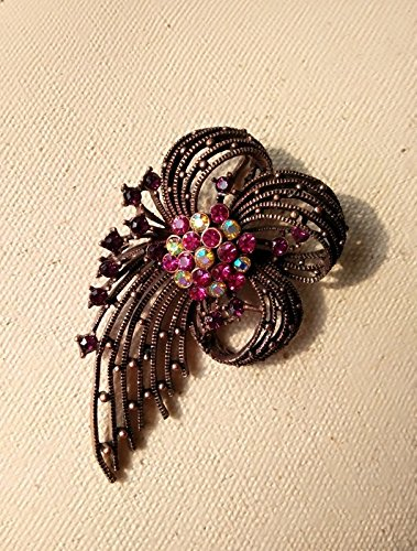 Antique copper objects retro brooch to do the old antique diamond flower brooch vintage brooch