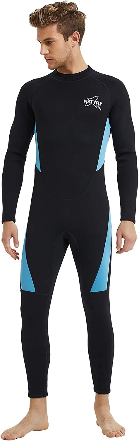 NATYFLY Wetsuit Men 3mm Neoprene Shorty Surfing Wetsuits for Women