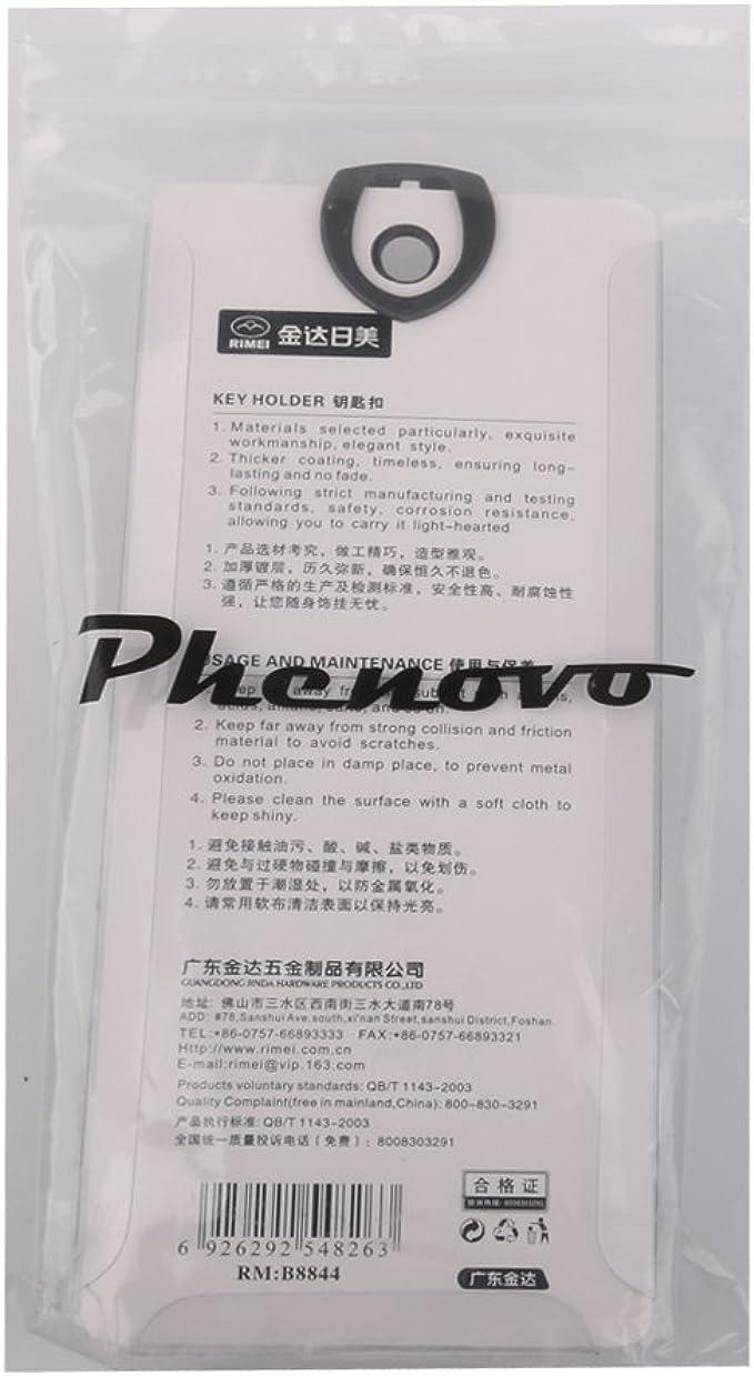 Phenovo Porte-cl/és 2 Anneaux Boucle /à Ceinture en Cuir Synth/étique Couleur Al/éatoire