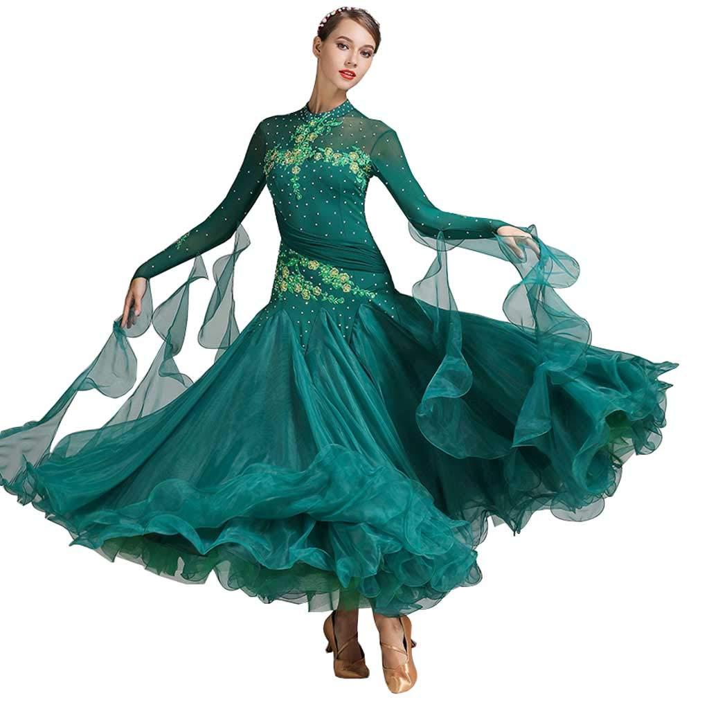 独特の素材 大人の女性モダンダンススカート ダークグリーン、大広間ダンススカートドレスコスチューム B07HK2TPM2 B07HK2TPM2 XXL|ダークグリーン XXL ダークグリーン XXL, オーダースーツ注文紳士服アベ:469617ae --- a0267596.xsph.ru