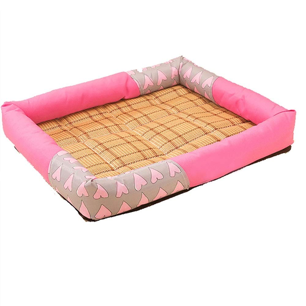 pink red Xl pink red Xl FXNN Pet Bed Simple and not Deformed Medium Small Dog pet nest (color   pink red, Size   XL)