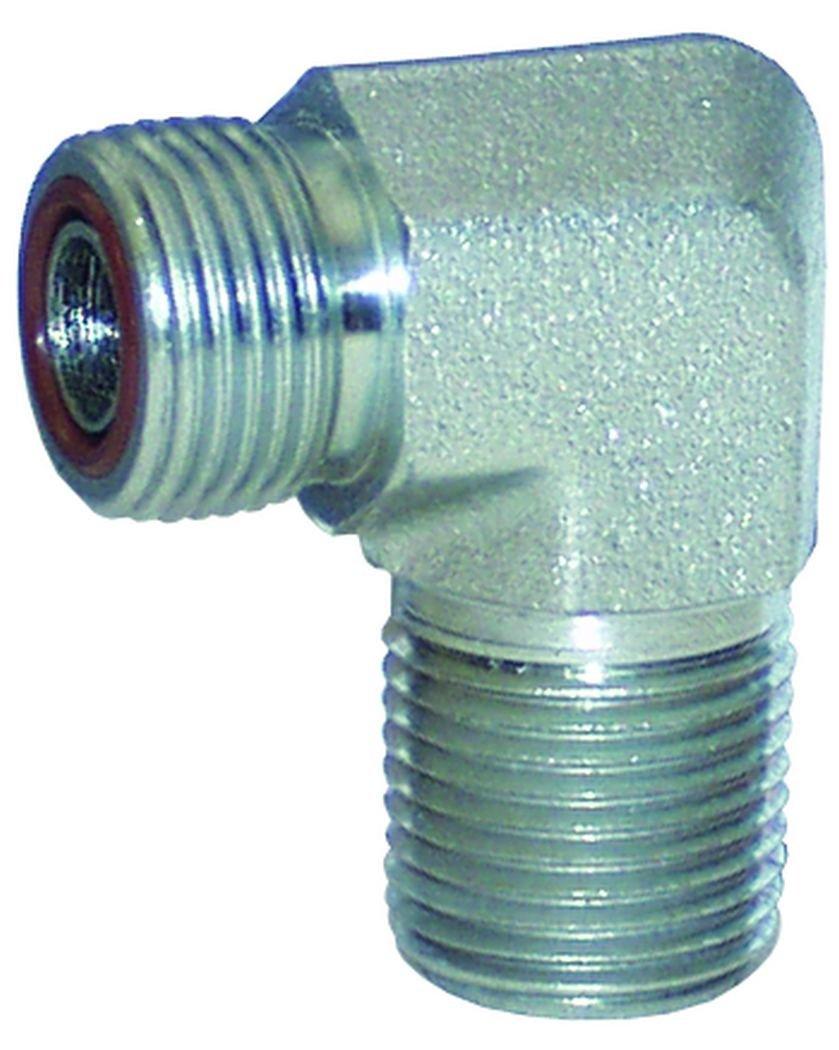 Zinc Plated Steel Dixon FS2501-12-12 1-3//16-12 Male Flat Face x 3//4-14 M-NPTF 90/° Elbow
