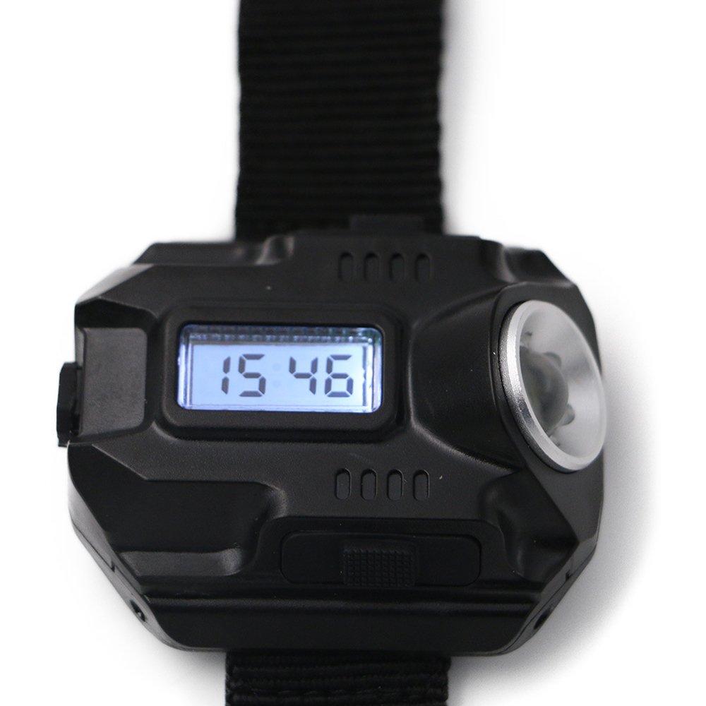 uthome linterna de reloj, LED reloj de pulsera linterna linterna luz USB recargable linterna, táctica recargable linterna reloj de pulsera lámpara de reloj, carga 2 correa (cable de carga incluido)