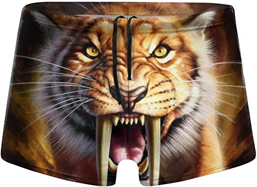 Tiger Head Mens Surfing Board Shorts Quick Dry Swimming Trunks XXL