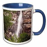 3dRose Bob Kane Photography Waterfall - Cascade Falls 02 - 11oz Two-Tone Blue Mug (mug_119992_6)