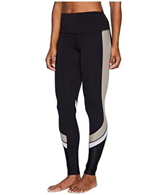 Alo Yoga Womens Elevate Legging, Black/Gravel Glsy/White ...