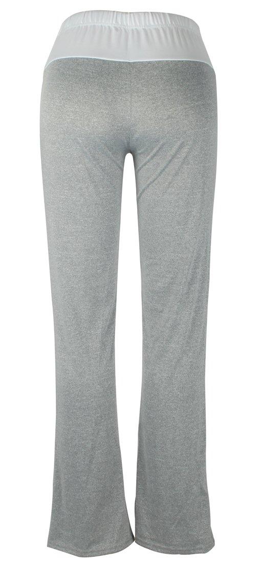 DODOING Women Sweatpants Drawstring Foldover Heather Wide Leg Loose Pants Yoga Leggings