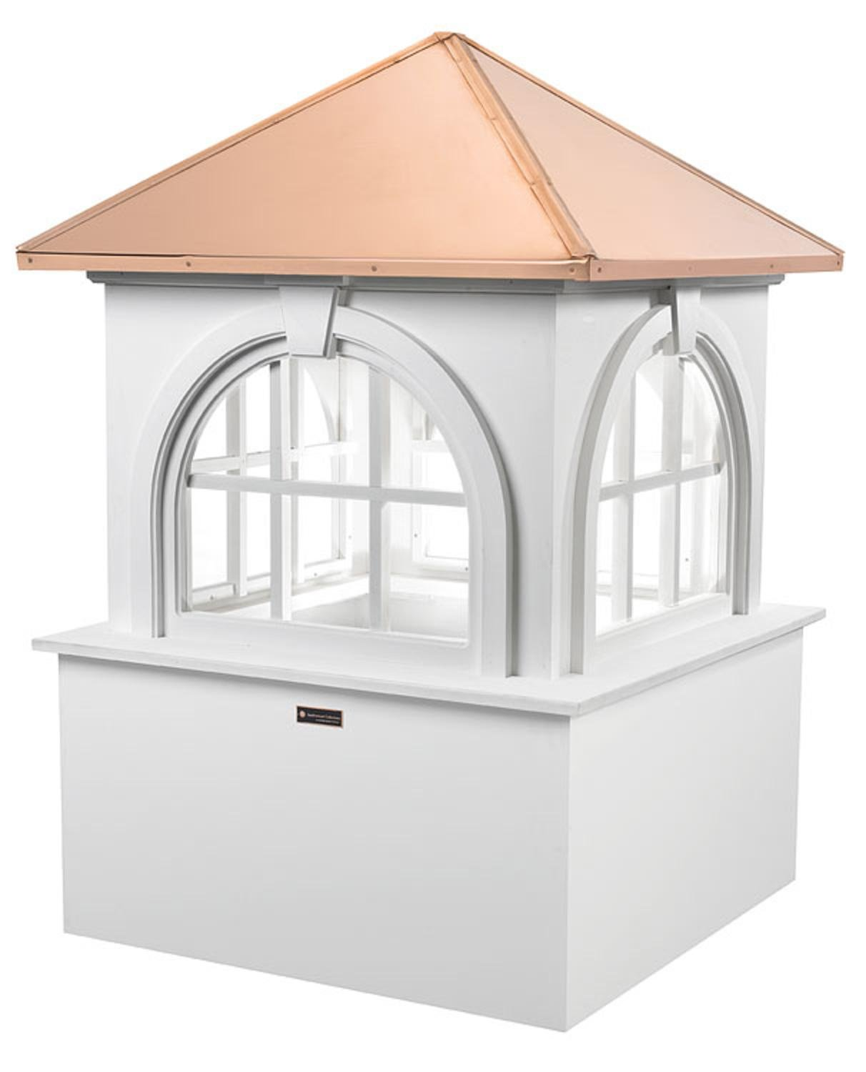 88'' Smithsonian Collection Handcrafted ''Arlington'' Copper and Vinyl Roof Cupola