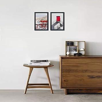 PETAFLOP Cadre Photo A4 Cadre Blanc Mural 21x30 cm D/écoration Mariage /à Poser sur Table