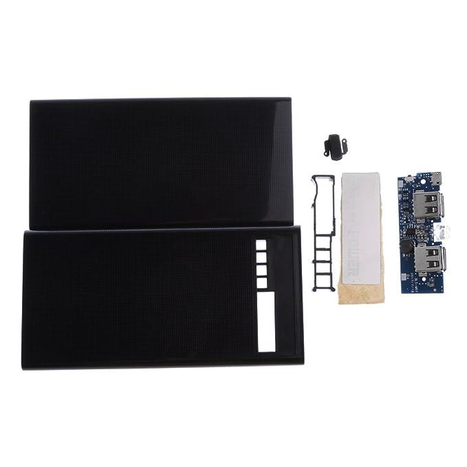 d7cbccc96b7 MagiDeal Cargador de Batería Externa de 4 Baterías USB 18650 Kit de Funda  para Teléfono Celular Bricolaje: Amazon.es: Electrónica