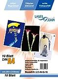 10 Blatt A4 Fotopapier magnetisch Magnetpapier glänzend Original Premium Magnetpapier von LabelOcean(R)