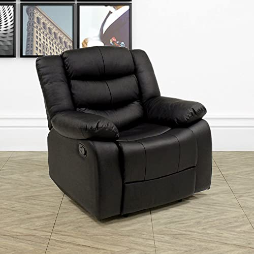 Beauty4Less Lazy Boy Leather Style Recliner Chair