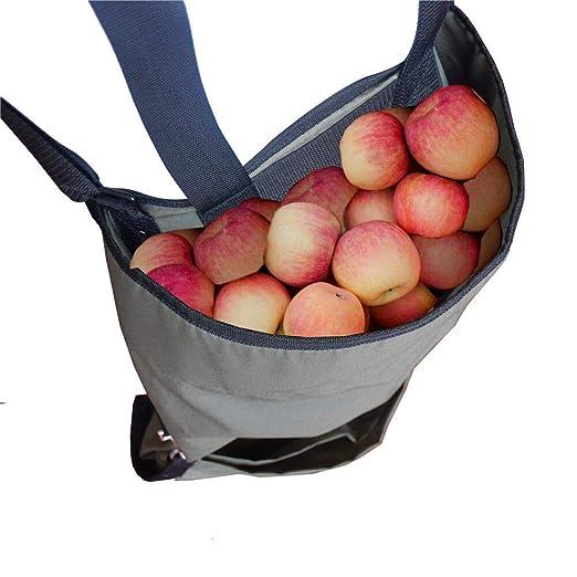 Delantal de Recogida de Frutas - Recogida de Frutas Grandes Cosecha Bolsa de Tela Oxford de Alta Resistencia - Bolsillos Verdes para Frutas y Verduras