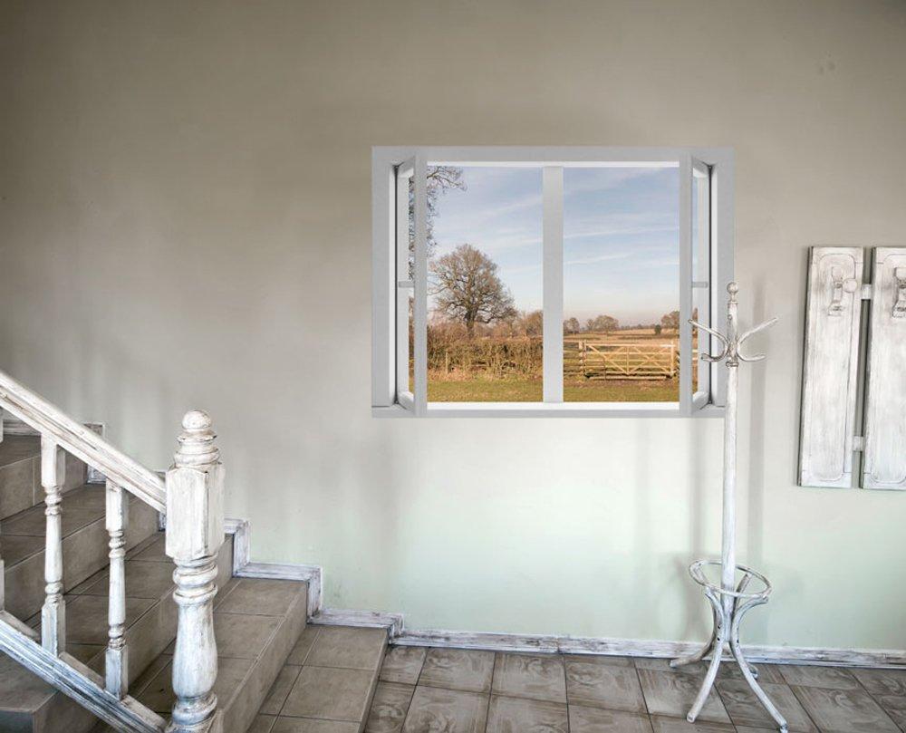 JP London AMD7A018 4-Feet by 3-Feet Removable Home Sweet Large Window Wall Mural