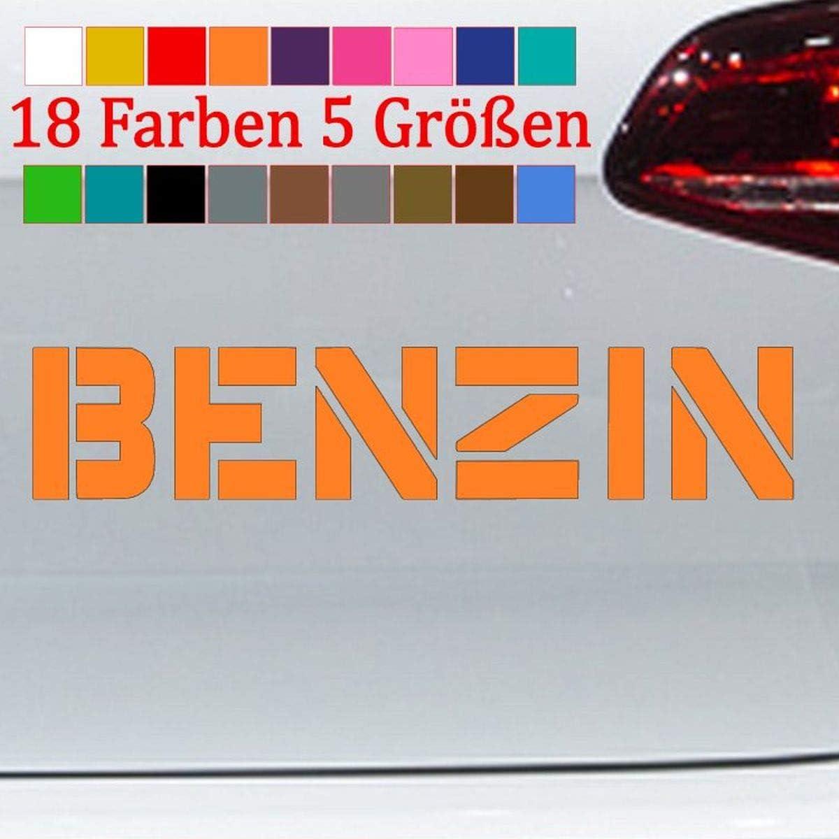 Generic Benzin Aufkleber Feinstaub VW Audi Plakette Tankdeckel Abgas 18 Farben 5 Gr/ö/ßen