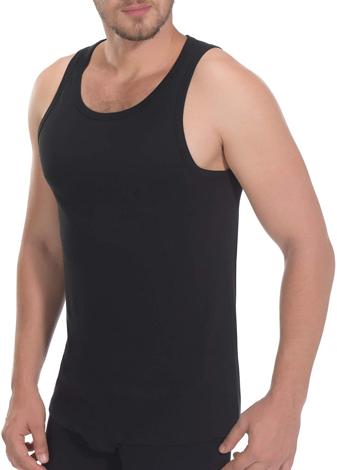 Mans Cotton Solid Color O-Neck Worlds Best Husband Sports Tank Top