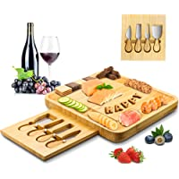 Cheese Board and Knife Set,Bamboo Charcuterie Board Set,Sungwoo,for Wedding Birthday Housewarming Gift