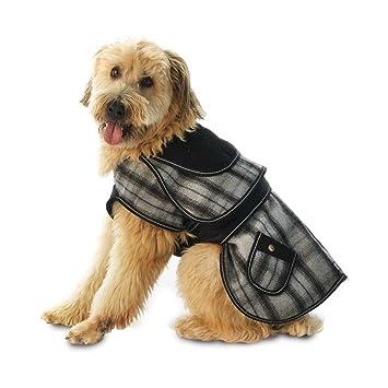plaid dog coats