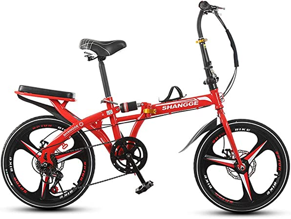 SYCHONG Bicicleta Plegable 16 Inch Single Speedone Rueda De ...