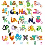 lovely lion wall decals HomeEvolution ABC Animals Alphabet Baby Nursery Kids Peel and Stick Educational Wall Arts Sticker Decals