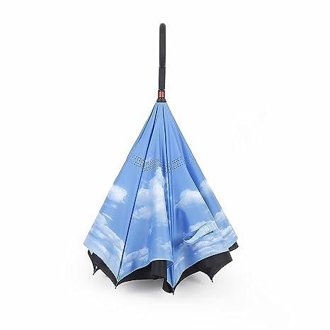 Paraguas Reversible Color Azul Cielo