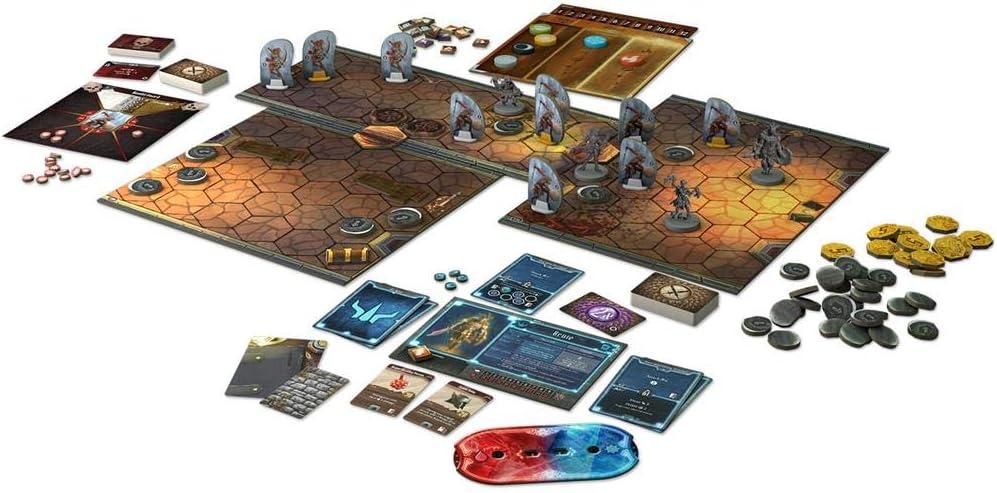 Mapas, cartas, figuras y fichas del juego de mesa de rol Gloomheaven