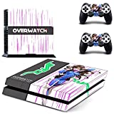 MightyStickers - OW Overwatch D.Va PS4 Console Wrap Cover Skins Vinyl Sticker Decal Protective for Sony PlayStation 4 + 2 Controller