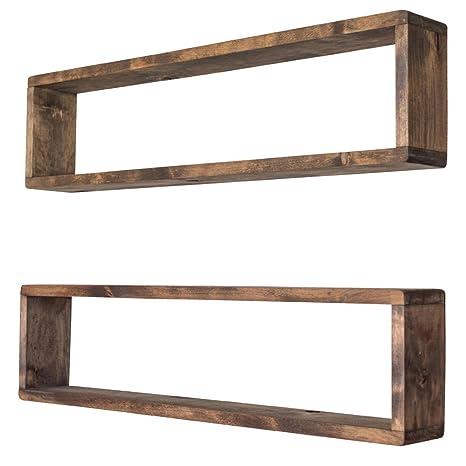 Amazon.com: Apilables flotantes caja estantes (Conjunto de 2 ...
