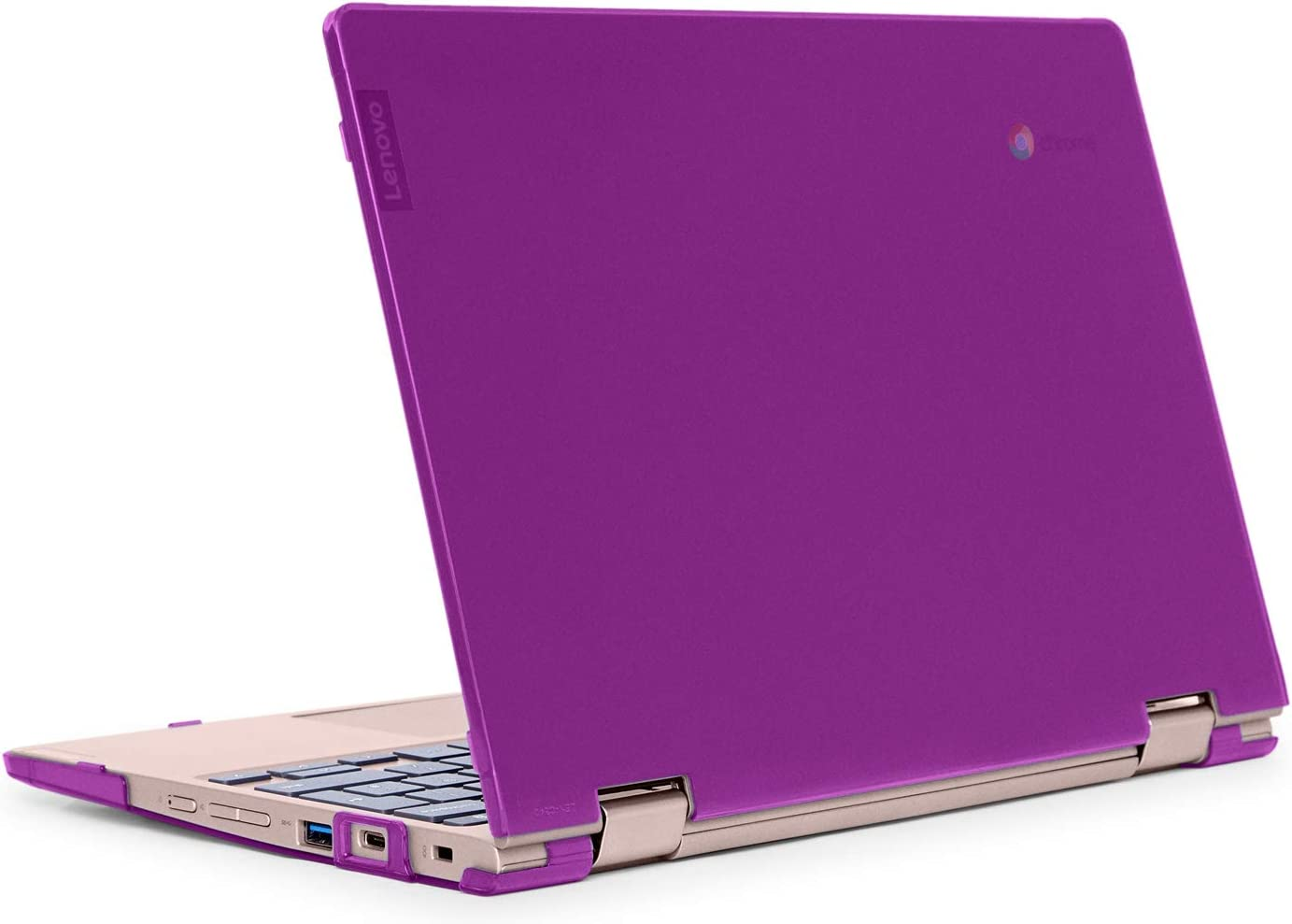 """mCover Hard Shell Case for Late-2019 11.6"""" Lenovo C340 Series 2-in-1 Convertible Chromebook Laptop (NOT Fitting Lenovo C330 N21 N22 N23 N24 100E 300E 500E Flex 11 Yoga 11e) (LEN-C340 Purple)"""