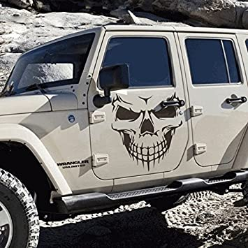 Sedeta black vinyl skull skeleton body decal reflective jeep car stickers vehicle styling removable waterproof sticker