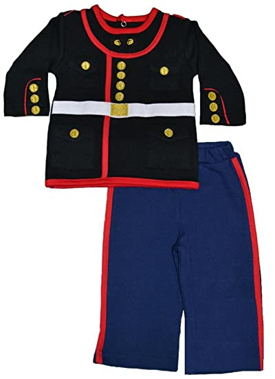 Amazon Com U S Marine Corps Dress Blues Uniform Baby Outfit 0 3