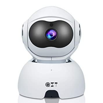 QZT Cámara de VIgilancia WiFi, 1080P FHD Cámara IP Interior con Versión Nocturna, Motion Detection, Móvil Seguir, Cámara de Casa para ...