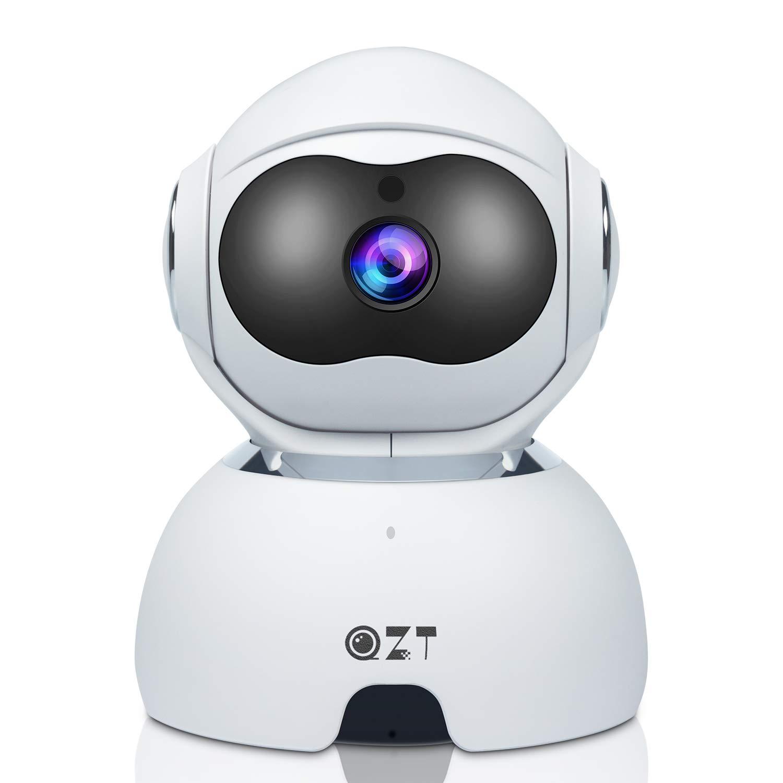 QZT Cámara de VIgilancia WiFi, 1080P FHD Cámara IP Interior con Versión Nocturna, Motion