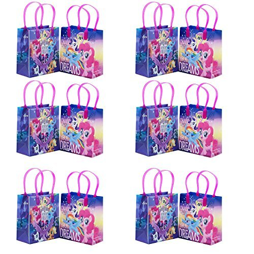 12PC My Little Pony The Movie Goodie Gabs Party Favor Bags Gift Bags Birthday (My Little Pony Bags)