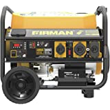 Firman P03612 Performance Series 4550/3650 Watt 120V/240V Gas Remote Start Generator, cETL, Black