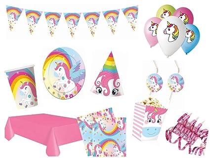 XXL Set Decoración Fiesta Unicorn Fiesta Cumpleaños Infantil ...