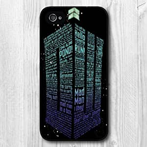 New Fashion Design Doctor Who Pattern Protective Hard Phone Cover Skin Case For iPhone 4 4s +Screen Protector