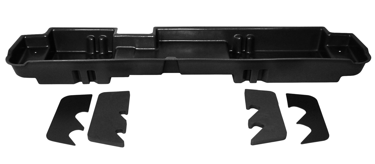 DU-HA Under Seat Storage Fits 03-16 Ford F-250 thru F-550 Super Duty Crew, Black, Part #20067