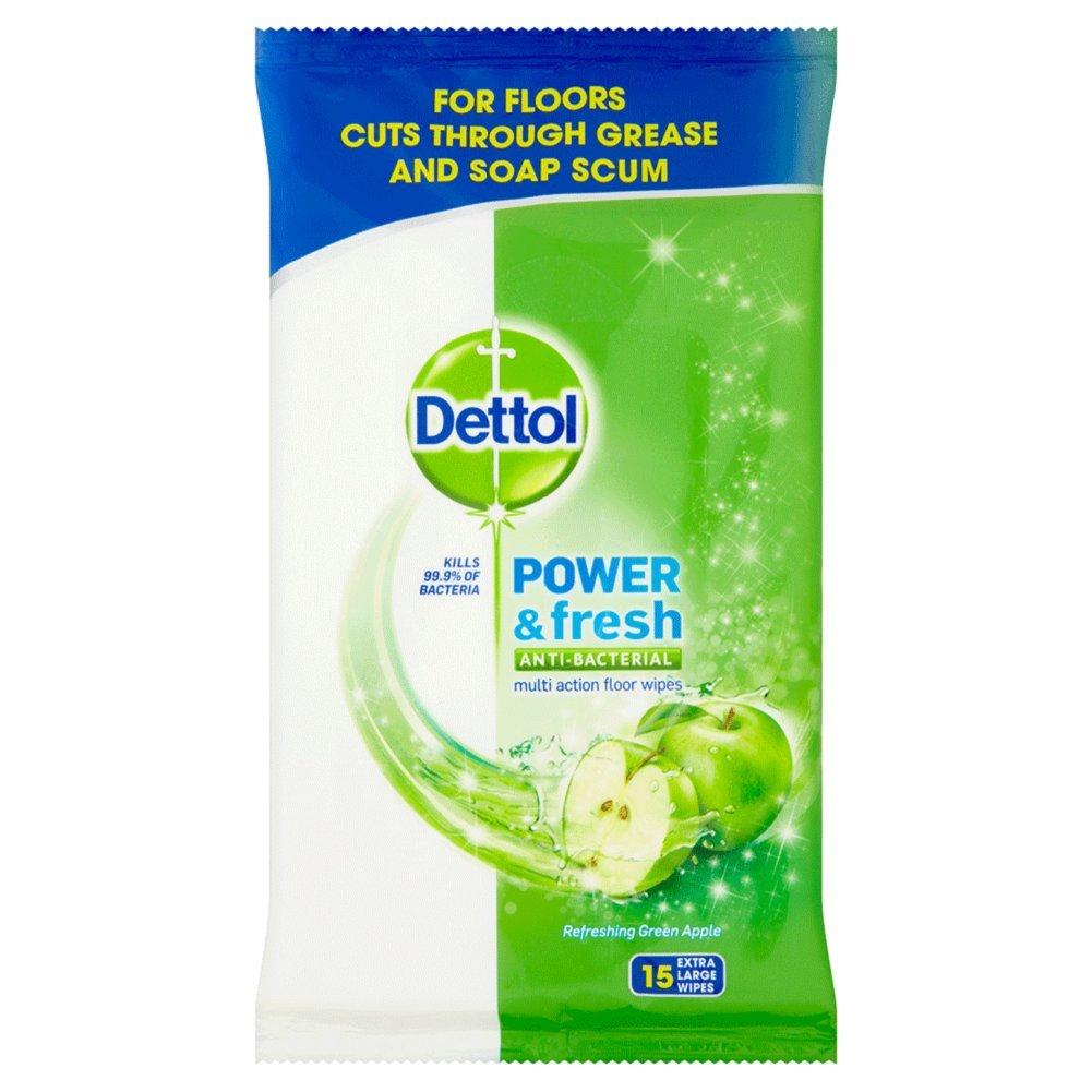 Dettol Complete Clean Green Apple Floor Wipes 15 Pieces (Pack Of 3): Amazon.es: Salud y cuidado personal