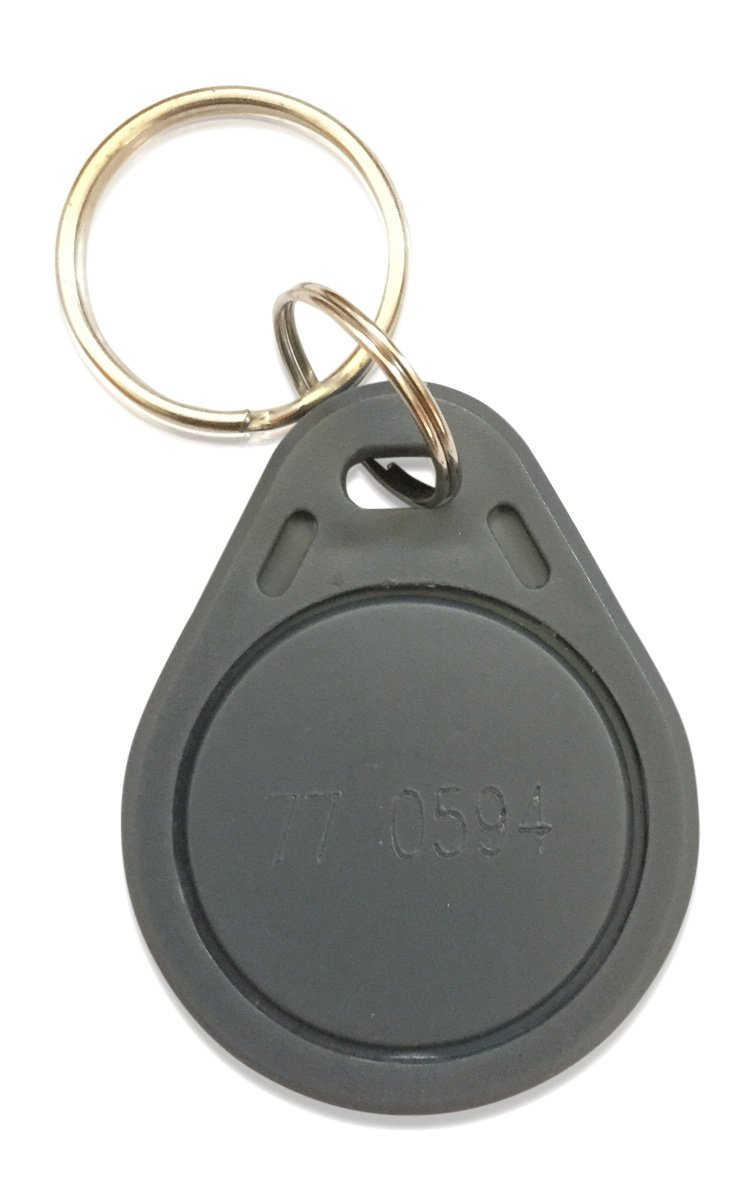 100 Thin 26 Bit Proximity Key Fobs Weigand Prox Keyfobs Compatable with ISOProx 1386 1326 H10301 format readers. Works with the vast majority of access control systems