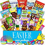 Easter Care Package (30 Count) - Filled with Candy, Chocolate, Toys, Plush Bunny Rabbit and More!! Perfect for Kids, Girls, Boys, College Students!