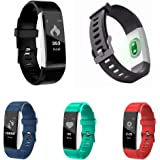 Fitness Tracker HR, Bluetooth 4.0 Pedometer with Heart Rate Monitor Auto Sleep Monitor Activity Tracker for Android iOS Smart Phone