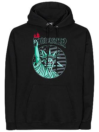 ac2bfd6d753e Thrasher Black Liberty Goat Hoody  Amazon.co.uk  Clothing