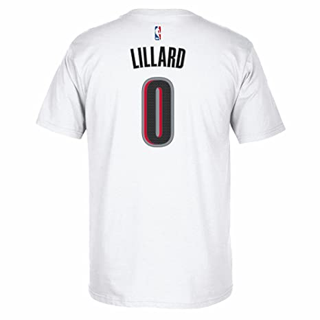 detailed look 289f4 542fc Damian Lillard Portland Trail Blazers NBA Adidas White Name   Number Player   quot Pride quot
