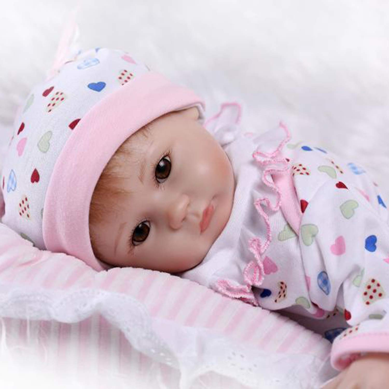 45CM Kawaii Bambini Reborn Baby Doll Morbido Silicone Lifelike Baby Doll Girl Miglior Compleanno Regalo di Natale per Bambini Ragazze, Misto FairytaleMM