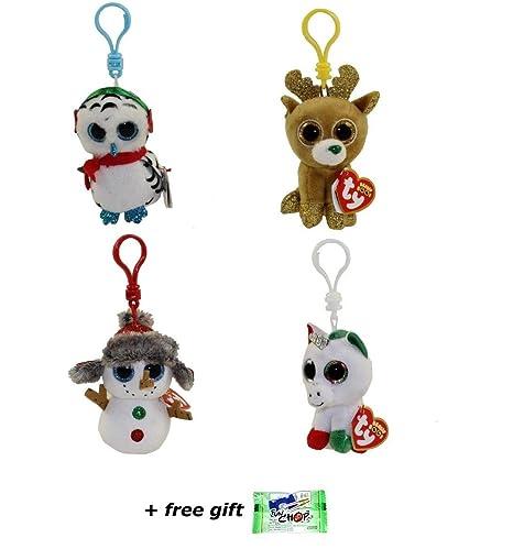 3fad5a7296d Amazon.com  2018 Christmas Set of 4 TY 3