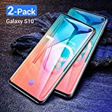 [2-Pack] Galaxy S10 Glass Screen Protector, Ainope [[Support Fingerprint Unlock]] [Full Screen Coverage] Black Border [Most Case Friendly] Compatible Samsung Galaxy S10 6.1in 2019
