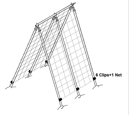 green, high heavy-duty a-frame trellis with net, plant support,